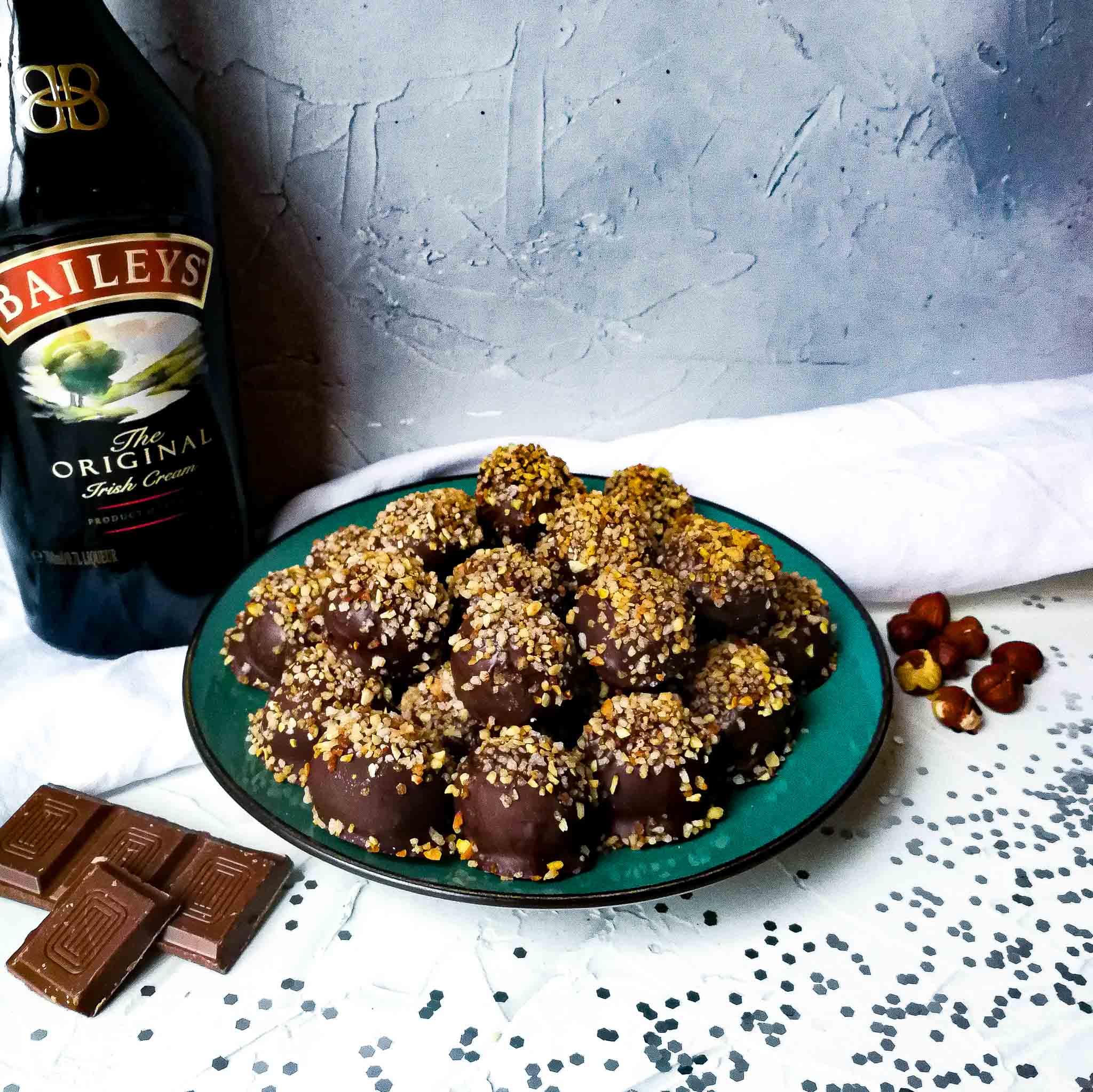 Bayleys-chocoladetruffels met nougatine