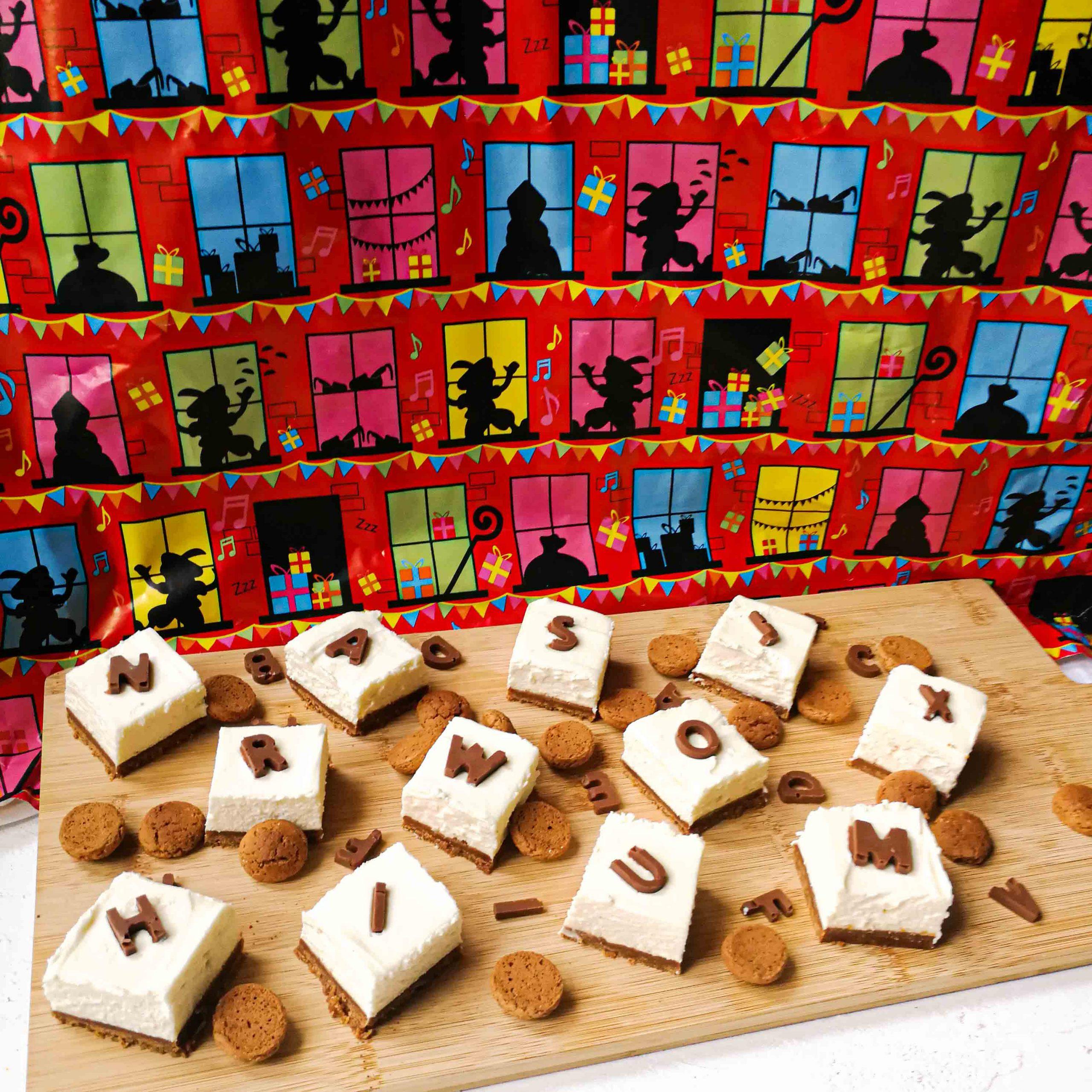 Sinterklaasgebakjes met mascarpone en mini-chocoladeletters